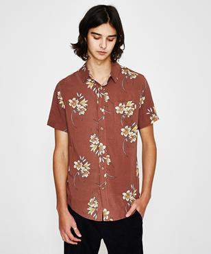 rhythm Cantina Short Sleeve Shirt Vintage Clay