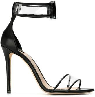 The Seller buckle detail transparent heeled sandals