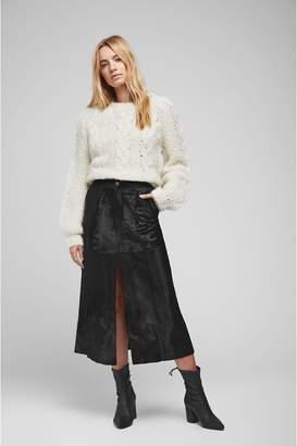Anine Bing Vera Leather Skirt - Black