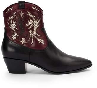 Saint Laurent Rock 40 cowboy ankle boots