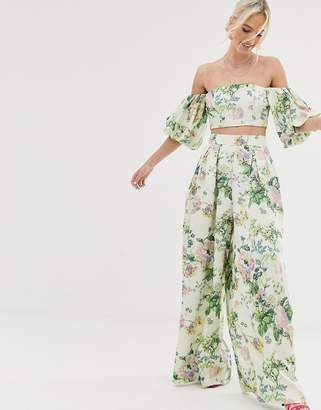 Asos Edition EDITION wide leg pants in floral print