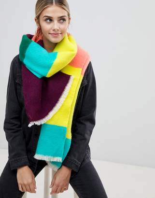 Miss Selfridge rainbow blanket scarf