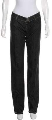 Thomas Wylde Embellished Low-Rise Jeans