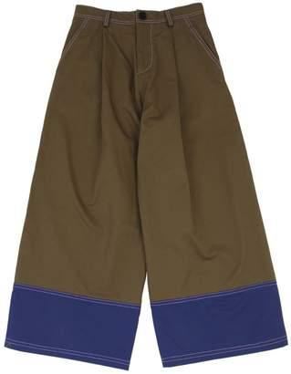 Marni Junior WIDE LEG COTTON GABARDINE PANTS