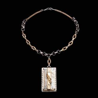 Lulu Frost Fine Vintage Pendant Necklace - Rectangle Drop
