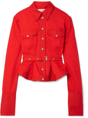 Marques Almeida Marques' Almeida - Belted Drill Jacket - Red