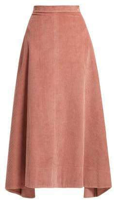 Elizabeth and James Danielle Cotton Corduroy Midi Skirt - Womens - Pink