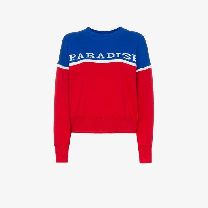 Kepson Paradise intarsia wool cotton blend jumper