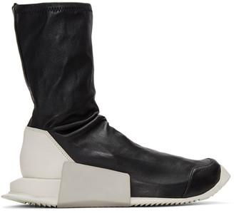Rick Owens Black adidas Originals Edition Level Sock Mid-Calf Sneakers $1,150 thestylecure.com