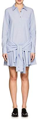 Derek Lam 10 Crosby WOMEN'S STRIPED COTTON TIE-WAIST SHIRTDRESS - BLUE SIZE 6