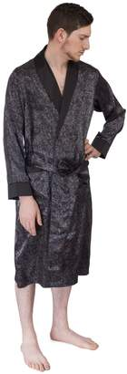 Gianfranco Ferre Le International Mens classic Premium Long Lightweight Paisley Satin Robe