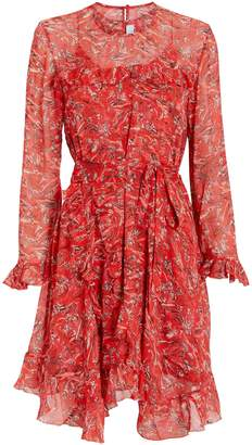IRO Floral Ruffle Trim Dress