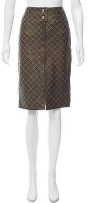 Chanel Quilted Leather Skirt