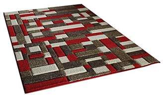 Camilla And Marc The Rug Shop UK Portland 1098 R Rug Shop UK 120 x 170 cm, Polypropylene, Beige/Cream/Red, 170 x 120 x 170 cm