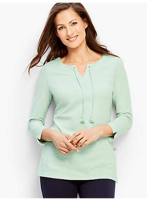 Talbots Tipped Oxford Pique Tunic