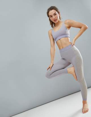 Asos 4505 Seamless Yoga Legging With Leopard Panels