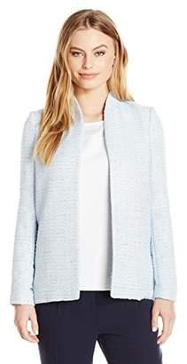 Calvin Klein Women's Petite Size Tweed Open Jacket