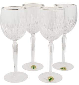 Waterford Set of 4 Wynnewood Platinum Wine Glasses
