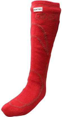Hunter Boots Socks Military Red
