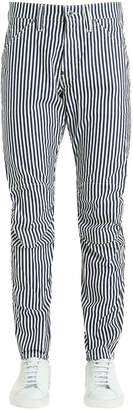 Pharrell G-Star By Williams Elwood Hickory Stripe Print Denim Jeans