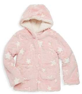 C&C California Little Girl's Hooded Reversible Faux Fur Jacket