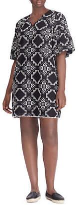 Lauren Ralph Lauren Plus Elbow-Sleeve Casual Dress