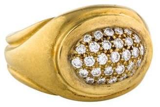Kieselstein-Cord 18K Diamond Oval Cocktail Ring