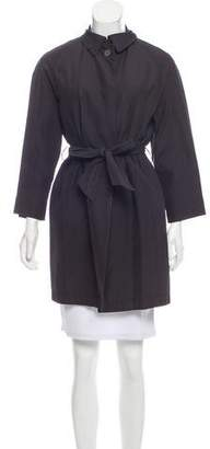Les Copains Belted Button-Up Jacket