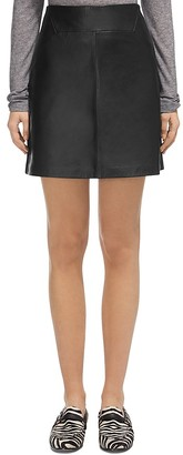 Whistles Leather A-Line Skirt $320 thestylecure.com