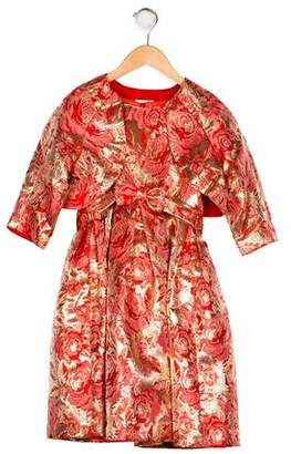 Rachel Riley Girls' Brocade Dress Set