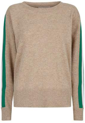Sandro Stripe Trim Sweater