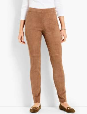 Talbots Suede Slim Ankle Pants