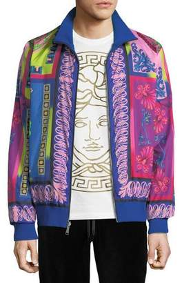 Versace Men's Printed Zip-Front Reversible Jacket