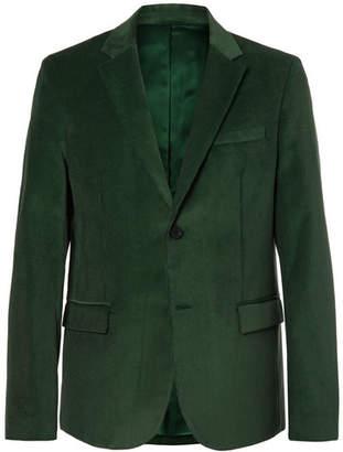Joseph Davide Forest-Green Cotton-Corduroy Blazer