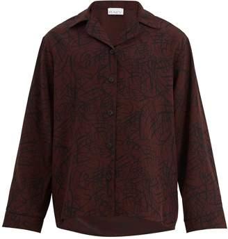 Raey Squiggle-print silk-crepe pyjama shirt