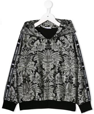 Dolce & Gabbana printed logo tape hoodie