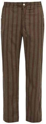Needles - Striped Twill Trousers - Mens - Brown