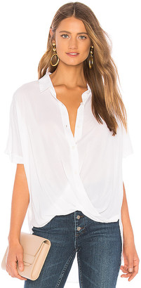 BCBGeneration Wrap Hem Dolman Sleeve Shirt