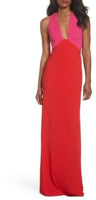 Jill Stuart Colorblock Column Gown