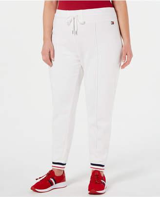 ec76e6116db Tommy Hilfiger Plus Size French Terry Striped Hem Track Pants