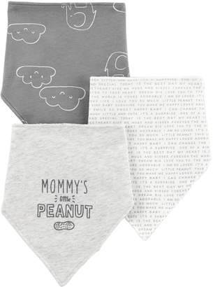 Carter's Baby 3-Pack Embroidered & Print Bandana Bibs