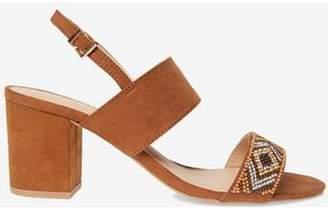 Dorothy Perkins Womens Tan 'Skittle' Beaded Sandals