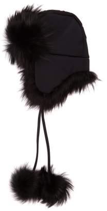 Fendi Roma Logo Hat - Womens - Black