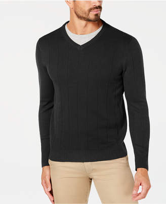 Club Room Men Textured V-Neck Sweater