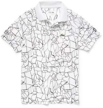 Lacoste Boys' SPORT Print Technical Jersey Polo- x Novak Djokovic Off Court Premium Edition