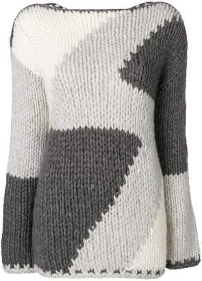 Iris von Arnim intarsia design jumper