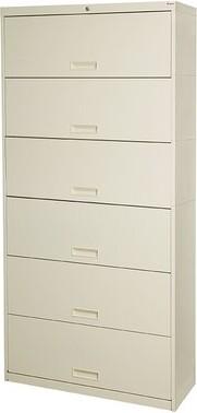 """Datum Storage Stak-N-Lok 100 Series 6 Door 24"""" W Legal Size and Locking High Cabinet Datum Storage"""