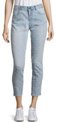 Peserico Star Embroidered Skinny Jeans