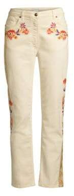 Etro Women's Embellished Floral Jeans - Winter White - Size 29 (6-8)