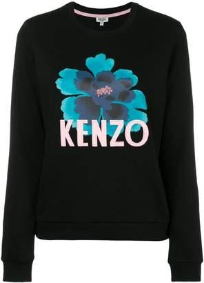 Kenzo floral motif sweatshirt